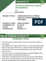 A Prepaid Water Control