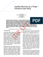 IR-based Traceability Recovery as a Plugin – An Industrial Case Study