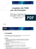 Enquête Eiris/Ipsos sur l'Investissement socialement responsable (ISR)