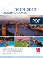 Cartan Tours London 2012 Ticket Brochure