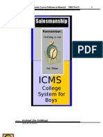 Salesmanship DBA II Complete Notes