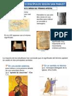 discipulos o apostoles