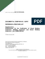 CSWIP WI 6 92 SUP01 3rd Edition November 2009