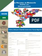 Cartel Semana Nacional de Migración Zacatecas 2011