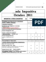Agenda Impositiva Octubre 2011- Pi