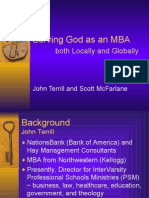 Serving God as MBA