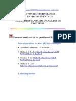 Méthodes d'analyse des protéines