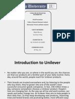 ANALYSIS OF FINANCIAL STATEMENTS of UNILEVER PAKISTAN