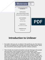 ANALYSIS OF FINANCIAL STATEMENTS of UNILEVER PAKISTAN
