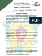 Olimpiada Corazonista 2011 - Invitacion y Reglamentos