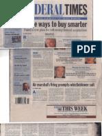 Federal Times Front Page TSA Air Marshal Robert MacLean November 6, 2006