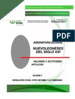 Antología Bloque 2  NLSXXI, VALORES Y ACTITUDES