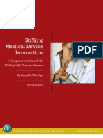 Larry Pilot - Stifling Medical Device Innovation