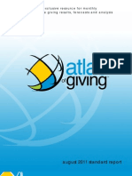 September 2011 Atlas of Giving Report - Showing giving trends through August 2011