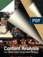 Krippendorff Content Analysis