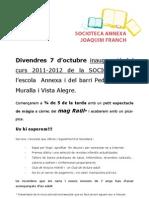Cartell inauguracio socioteca 2011-12-1
