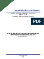 A IMPORTÂNCIA DOS CONVENTOS NA EDUCAÇÃO DE MENINAS E MENINOS DO BRASIL COLÔNIA