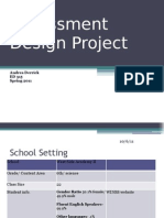 Assessment Design Project
