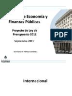 Presentación Presupuesto 2012
