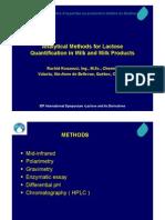 Metodos Para Cuantificacion de Lactosa en Leche (FIL-IDF)
