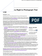 ACLU - You Have Every Right to Photograph That Cop