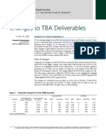[Lehman Brothers] Changes to TBA Deliver Able