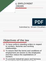 Industrial Employment Standing Order
