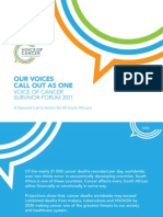 Voice of Cancer  Call to Action
