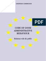 Code_en on Good Admnistrative Behaviour EC