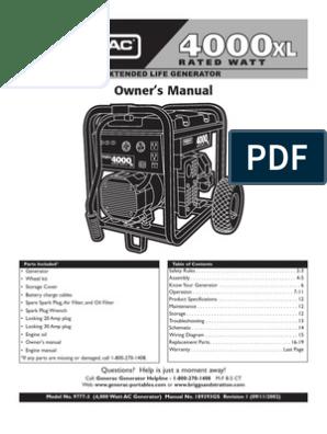 4000XL Generator | Battery (Electricity) | Ac Power Plugs ... on