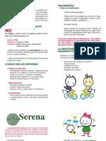Diptico Asociación Serena 1 TDAH 2011-2