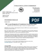 PRC accepts Block Jr.'s resignation letter