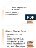 The Research Proposal and Literature Reviews