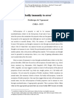 De Vignemont - Bodily Immunity to Error