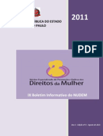 Boletim Informativo - nº 09 - agosto de 2011