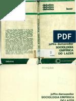 Joffre Dumazedier  Sociologia Empírica do Lazer