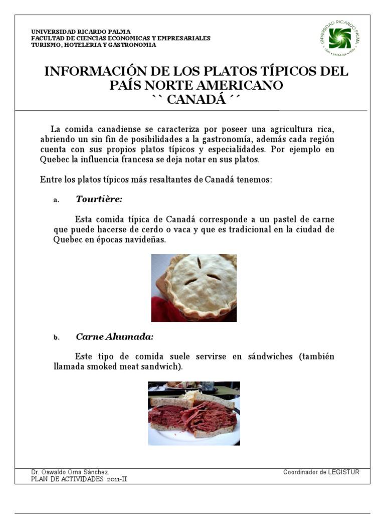 Canada 7 platos t picos for Comida francesa df