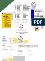 Planilla de inscripción APUNEFM