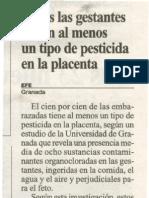 Fitosanitarios en Placenta (Jul 06)