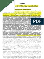 Unidad 1 Conceptos de Poder Politico, Tipos y Caracteristicas