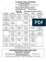 Soul & Spine Class Schedule (May 3 - June 16)