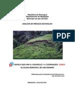 Analisis de Riesgos en Nicaragua