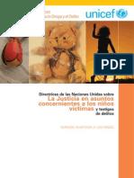 Direct Rices Sobre La Justicia en Asuntos Concernientes a Los Niños víctimas y Testigos de Delitos