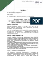Ley 29139 (Del 01 de Diciembre de 2007) - Modifica La Ley 28119