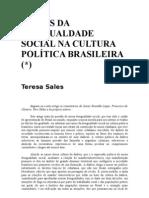 RAÍZES DA DESIGUALDADE BRASILEIRA - Teresa Sales