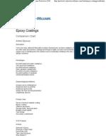 Epoxy Coating Comparison Chart - Sherwin-Williams Protective & Marine Coatings