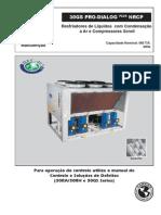 Manual de operação e instalação chiller
