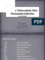 Miliary Tuberculosis After Pneumonia Infection