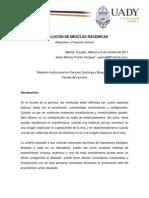 RESOLUCIÓN DE MEZCLAS RACÉMICAS