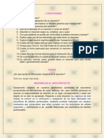 Resumen de El Ante-proyecto
